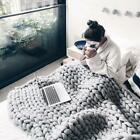 Comfortable Warm Soft Thick Line Giant Yarn Knitted Blanket Manual Weaving JJ image