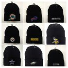 READ LISTING! NFL/MLB *Flat* Logo Heat Applied on Beanie Knit cap hat. PICK TEAM $5.95 USD on eBay