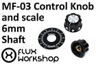 Control Knob 6mm Shaft Black Plastic MF-04 HuoJu 0-100 Encoder Flux Workshop