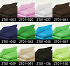 Luxury Solid 100% Satin Silk Bedding Pillowcases Zipper-Free UK / US Sizing King
