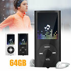 40 Hours Portable HiFi MP3 Music Player FM Lossless Sound Recorder up to 64GB
