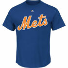 New York Mets T-Shirt Mens Royal Cotton Majestic - New w/ Minor Defect