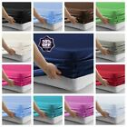 Plain Poly/Cotton 16'' / 41CM EXTRA Deep Fitted Bed Sheet Single Double King image