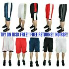 3 pack SIZE 3X Mens Dri Fit Mesh Shorts Fitness Workout Gym Basketball Short