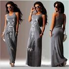 Cat Print Long Maxi Dress Summer  Beach Bodycon Dresses Vintage Sundresses Eveni