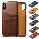 For Iphone Xs Max Xr X 7 8 Plus Leather Wallet Card Slot Holder Back Cover Case
