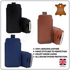 Genuine Leather Pull Tab Pouch Cover For SAMSUNG GALAXY S8 S9 S10 Note 8 910 5G
