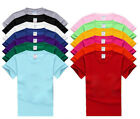 New Cotton blank round neck short sleeve T-shirt custom casual men's shirts image