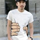 HOT NEW Men's Fashion 3D Printed T-shirt Big Hand Funny Sleeve Short Tee Shirt image