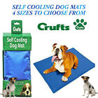 New Dog Puppy Cat Cooling Mat Cool Pet Non-Toxic Heat Relief Soft Gel Mat 4 Size