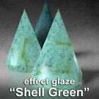 "#US ""SHELL GREEN"" Effect Ceramic Glazes Earthenware how to pottery paint image"