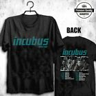 2019 Incubus Concert Tour T Shirt Mens Black Dates Cities 2 Sided Band Rock Tee image