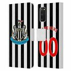 CUSTOM PERSONALIZED NUFC 2018/19 CREST LEATHER BOOK WALLET CASE FOR SAMSUNG 1