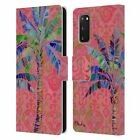 OFFICIAL PAUL BRENT TROPICAL LEATHER BOOK WALLET CASE FOR SAMSUNG PHONES 1