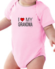 Infant Creeper Bodysuit T-shirt I Love My Grandma