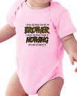 Infant Creeper Bodysuit Piece T-shirt I Smile Because You're My Brother Nothing