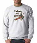 Gildan Long Sleeve T-shirt Christian Driven By Faith Cross Nails Jesus