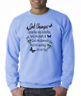 Long Sleeve Christian T-shirt Adult Youth God Changes Caterpillars Butterflies