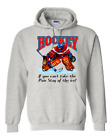 Gildan Hoodie Pullover Sweatshirt Hockey Can't Take The Pain Stay Off Ice