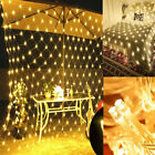Led String Fairy Lights Net Mesh Curtain Xmas Wedding Party Home Outdoor Decor