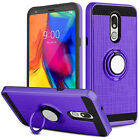 For LG Stylo 5/Stylo 4/4 Plus Case Hybrid Ring Stand Armor Cover Magnetic Holder