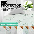 Bamboo Mattress Protector Full Size Soft Bed Topper Cover Pad Bug Hypoallergenic image