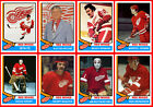 1974-75 DETROIT RED WINGS High Grade Hockey Card Style Fridge Magnet U-Pick MINT $2.63 USD on eBay