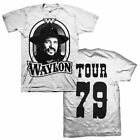 WAYLON JENNINGS Tour 79 ((White)) T SHIRT S-2XL New Official Kings Road Merch image