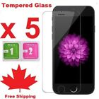 Tempered Glass Screen Protector For iPhone 7 8 | iPhone 7Plus  8PLUS (5 PACK)