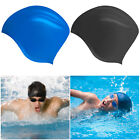 Durable Waterproof Women Men Adult Swim Cap Silicone Swimming Bathing Pool Hat