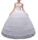 Kyпить Women Crinoline White 6 Hoop Wedding Petticoat Skirt Long Ball Gown Underskirt на еВаy.соm