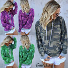 Fashion Women Long Sleeve Camouflage Pullover Hoodie T-Shirt Blouse Sweatshirt