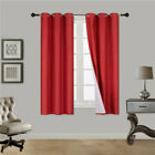 """2 PANEL 100% THERMAL BLACKOUT BRONZE GROMMET WINDOW LINED PANEL CURTAIN AAA 63"""""""