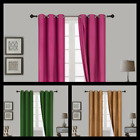 """2 PANEL 100 THERMAL BLACKOUT BRONZE GROMMET WINDOW LINED PANEL CURTAIN AAA 95"""""""