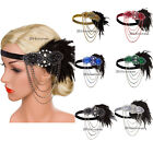 1920s Flapper Headband Accessories Gatsby Style 20s Headpiece Feather Hair Bands