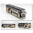 1:32 Alloy Double Decker Tour Bus Pull Back Car Model Sound & Light Toys Gift