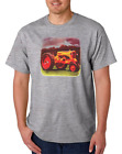 USA Made Bayside T-shirt Country Farm Farmer Tractor Antique Barn Yellow