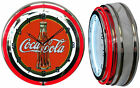 "19"" Coca Cola 1930's Bottle Coke Double Neon Clock Choice of Red or Yellow Neon $149.49  on eBay"
