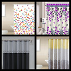 "1PC PRINTED BATHROOM BATH FABRIC SHOWER CURTAIN WITH HOOKS NEW DESIGNS 72""X72"""