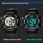 Men's LED Digital Large Screen Watch Stylish Sports Waterproof Wristwatch NEW image