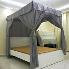 Four Corner Post Bed Canopy Mosquito Netting Or Frame/Post Twin Full Queen King image