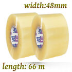 LONG LENGTH PACKING TAPE STRONG - BROWN / CLEAR / FRAGILE 48mm x 66M PARCEL TAPE