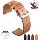 18 20 22mm Quick Release Leather Watch Band Wrist Strap For Men's Eco-Drive Band image