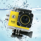 """Waterproof 1080P 100  Lens 2"""" LCD Sports Camera Video Recorder Accessory Kit New"""