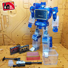 THF Transformers MP-13 Soundwave Clear Ver. Cassette Tape Deck Toy Action Figure