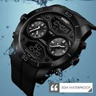 SKMEI 1355 Men Sport Watches Outdoor Swimming Diving Watch Digital Wrist Watches image