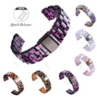 Luxury 20 22mm Smooth Tortoise Resin Watch Band Strap For MK Bradshaw Wristband image