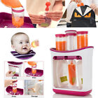 Fresh Squeezed Squeeze Station Baby Weaning Food Puree Reusable Pouches Maker