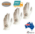 Golf Gloves Rain Grip Men's Left Hand Right Hand Black White Microfiber 3Pack AU