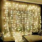 Window Curtain Icicle Lights String Fairy 300LED Wedding Party Home Garden 3x3 M